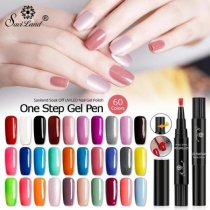 60 Colors Nail Polish Pen Gel Nail Varnish Pen UV Nail Art Gel Lacquer
