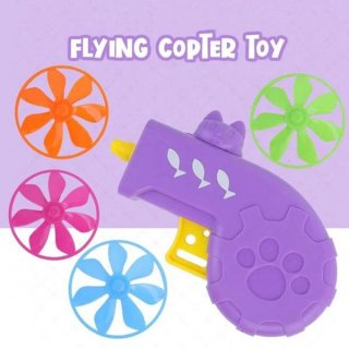 Funny Flying Copter Cat Toy