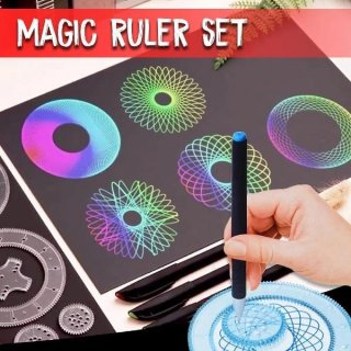 Magic Ruler Kaleidoscope Painting Set