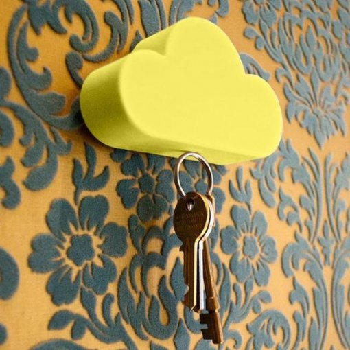 2pcs Cloud-shaped Magnetic Key Holder