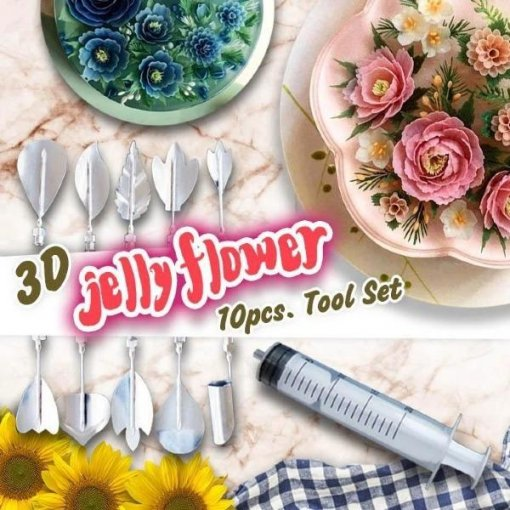 3D Gelatin Art Jelly Flower Decor Tools Set