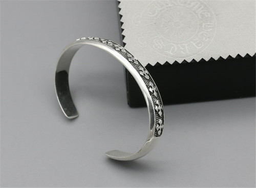 Chrome Hearts Open Bangle CHT025 Solid 925 Sterling Silver