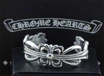Chrome Hearts Bangle OPEN  KEEPER CHT043 Solid 925 Sterling Silver