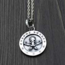 Chrome Hearts Pendant Skull Superman CHP094 Solid 925 Sterling Silver