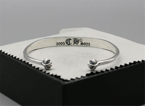 Chrome Hearts Open Bangle CHT024 Solid 925 Sterling Silver