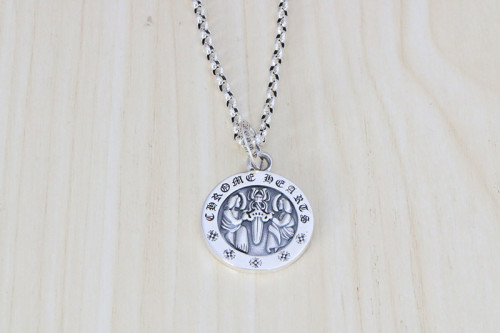 Chrome Hearts Pendant Double Men Dagger CHP095 Solid 925 Sterling Silver