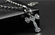 Chrome Hearts Pendant Filigree Cross CHP021 Solid 925 Sterling Silver