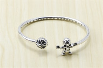 Chrome Hearts Open Bangle CHT007 CH CROSS Skull SuperMan Solid 925 Sterling Silver