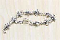 CHROME HEARTS Hip Hop Sterling Silver Cross Bracelet CHB020