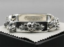 CHROME HEARTS 925 Sterling Silver Sword Bracelet CHB029