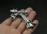 Chrome Hearts Pendant CH CROSS CHP113 Solid 925 Sterling Silver 80mm