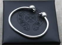 Chrome Hearts Bangle Skull CHT060 Solid 925 Silver