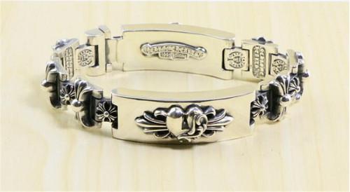 CHROME HEARTS BRACELET Sterling Silver Double Heart Sword Bracelet CHB085