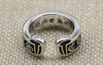CHROME HEARTS OPEN RING CHR105 Solid 925 Sterling Silver