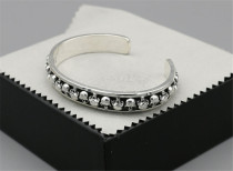 Chrome Hearts Open Bangle  CHT013 Solid 925 Sterling Silver