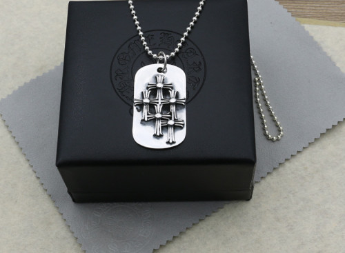 Chrome Hearts Pendant Tag 5 CH CROSS CHP084 Solid 925 Sterling Silver