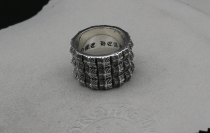 Chrome Hearts PETE PUNK TRIPLE STACK RING CHR091 Solid 925 Sterling Silver