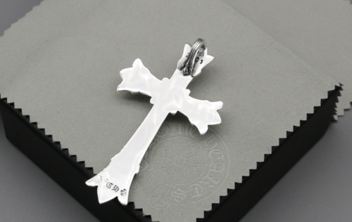 Chrome Hearts Pendant Double CH CROSS CHP046 Solid 925 Sterling Silver