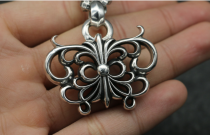 Chrome Hearts Pendant bowknot CHP053 Solid 925 Sterling Silver