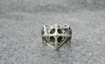 Chrome Hearts Rings Cross Fleur CHR119 Solid 925 Sterling Silver