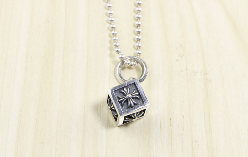 Chrome Hearts Pendant Cube CROSS CHP026 Solid 925 Sterling Silver