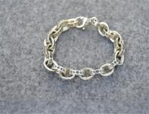 CHROME HEARTS Hip Hop Cross Letter Ring Bracelet CHB021