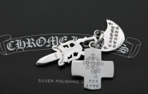 Chrome Hearts Pendant Sword /CROSS/SHIP CHP050 Solid 925 Sterling Silver