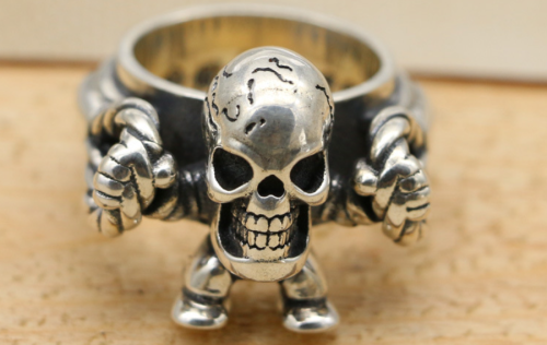 Chrome Hearts Bubble Gum Ring Foti Harris Teeter CHR137 Solid 925 Sterling Silver