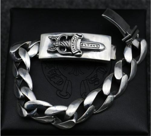CHROME HEARTS 925 Sterling Silver Bracelet CHB069