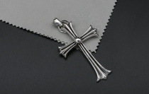 Chrome Hearts Pendant CH CROSS CHP009 Solid 925 Sterling Silver