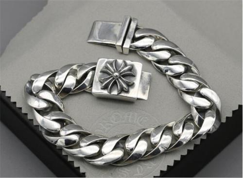 CHROME HEARTS BRACELET Punk Sterling Silver Cross Bracelet CHB089