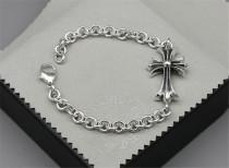 CHROME HEARTS 925 Sterling Silver Cross Bracelet CHB022