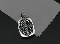 Chrome Hearts Pendant CH CROSS Iron Art CHP109 Solid 925 Sterling Silver
