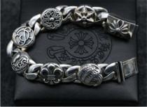 CHROME HEARTS Thai Silver Bracelet 925 Sterling Silver Rough CHB059