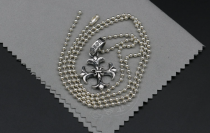 Chrome Hearts Pendant BS Fleur Cross CHP013 Solid 925 Sterling Silver