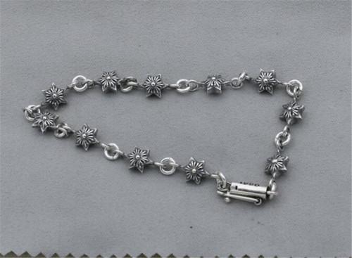 CHROME HEARTS BRACELET Thai Silver Hexagram Harajuku CHB073
