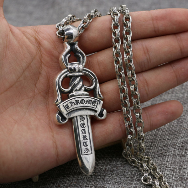 Chrome Hearts Pendant Sword CHP133 Solid 925 Sterling Silver