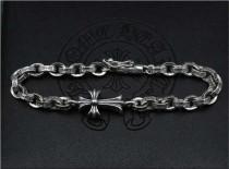 CHROME HEARTS Sterling Silver Cross Ring Bracelet CHB060