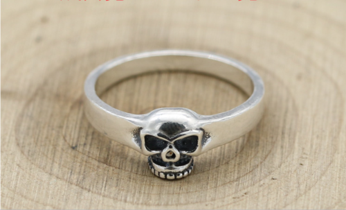 Chrome Hearts Skull Ring CHR113 Solid 925 Sterling Silver