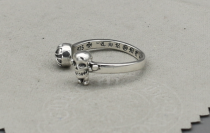 CHROME HEARTS BUBBLE GUM RING FOTI HARRIS TEETER Solid 925 Sterling Silver CHR045