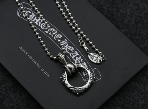 Chrome Hearts Pendant STB Band Ring CHP104 Solid 925 Sterling Silver