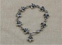 CHROME HEARTS 925 Sterling Silver Anchor Bracelet CHB066