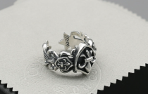 CHROME HEARTS BUBBLE GUM RING FOTI HARRIS TEETER Solid 925 Sterling Silver CHR044