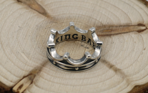 King Ring BAND CHR077 Solid 925 Sterling Silver