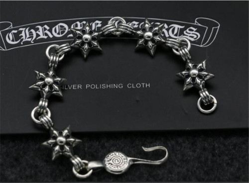 CHROME HEARTS BRACELET Vintage Hexagram 925 Silver Bracelet CHB091