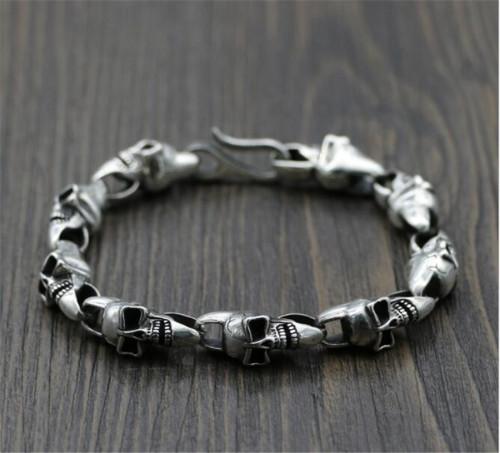 CHROME HEARTS BRACELET Solid Punk Sterling Silver Bracelet CHB080