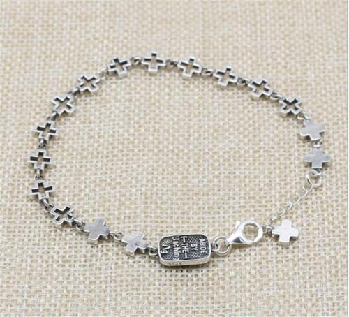 CHROME HEARTS BRACELET Cross Bracelet 925 Sterling Silver CHB084