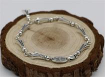 CHROME HEARTS Engraved Sterling Silver Vintage Bracelet CHB026