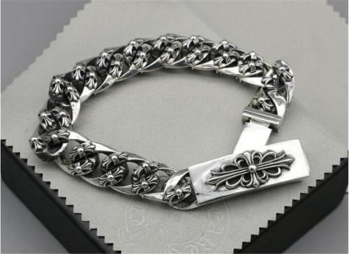 CHROME HEARTS BRACELET Sterling Silver Cross flower CHB076