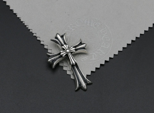 Chrome Hearts Pendant Double CH CROSS CHP085 Solid 925 Sterling Silver